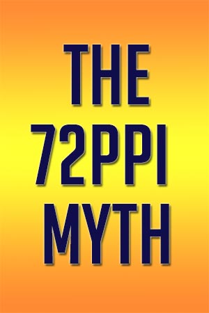 The 72ppi Myth - resizing images for the web