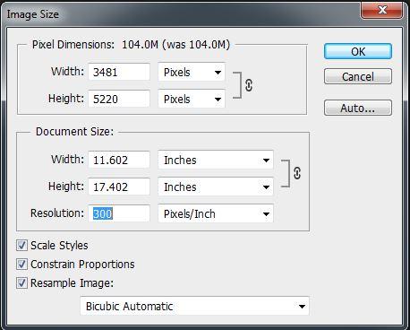 Image Size Dialog 1.1 - resizing images for the web