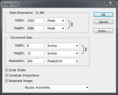 Image Size Dialog 1.3 - resizing images for the web