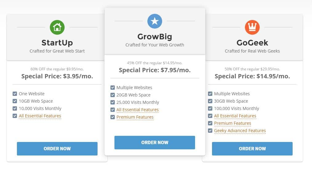 Buy Hosting Siteground Full Specifications