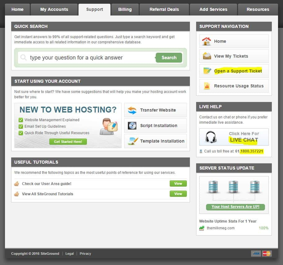 shared web hosting review