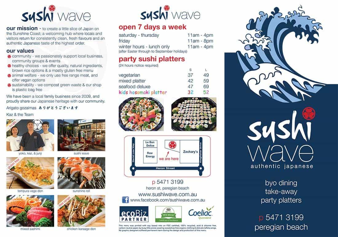 Sushi Wave Menu Front